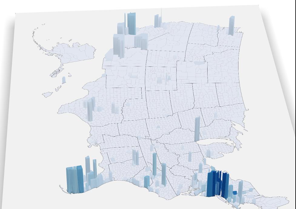 Covid-19 3D Migration map